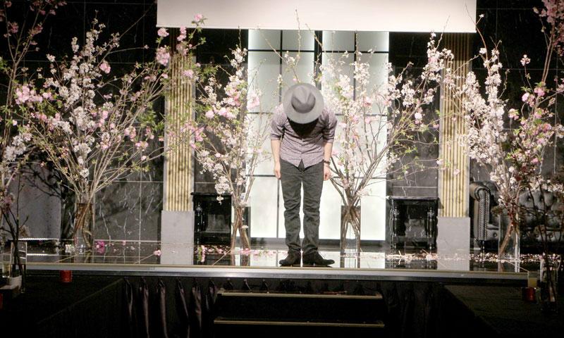 桜並木のあるステージ