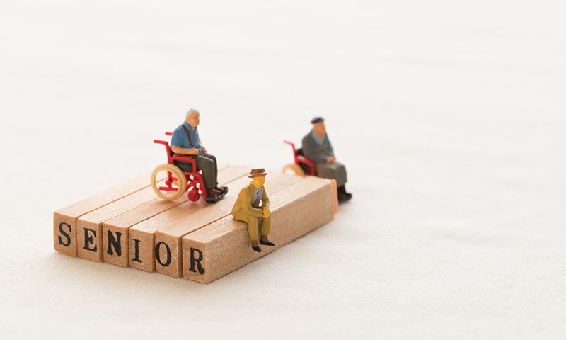 老人の模型